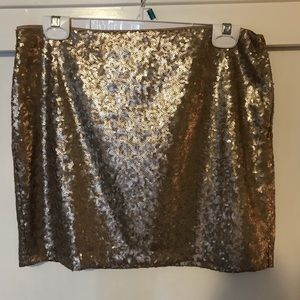 GAP gold sequin mini skirt - sz 4